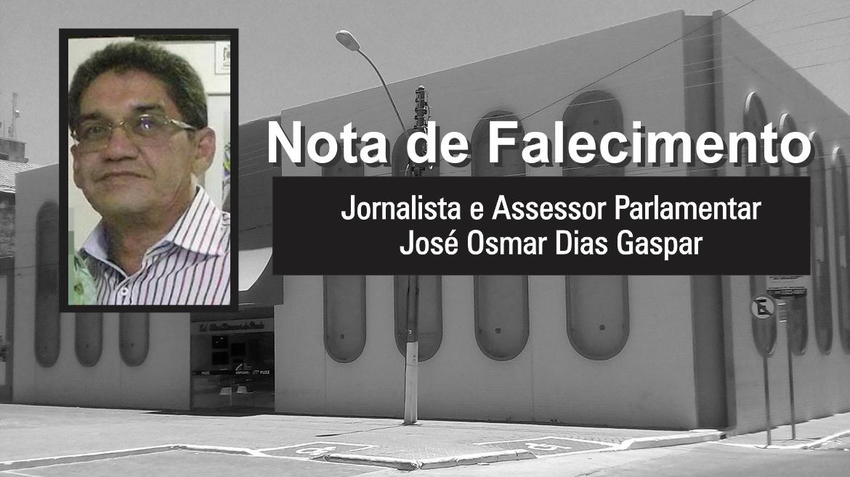 Nota de Falecimento do Servidor José Osmar Dias Gaspar